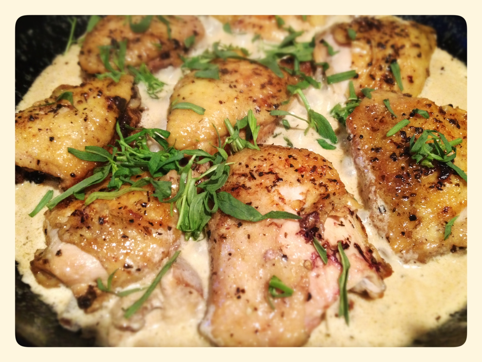 Chicken with Tarragon Mushroom Sauce | Pot of Roses