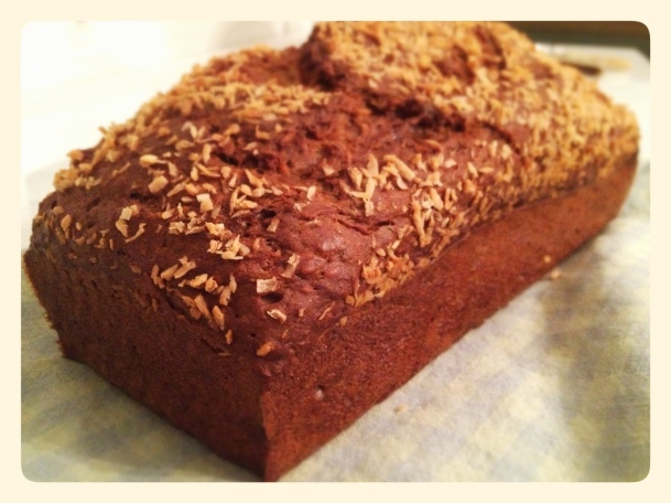 Healthy Banana Bread with Coconut Oil and Coconut