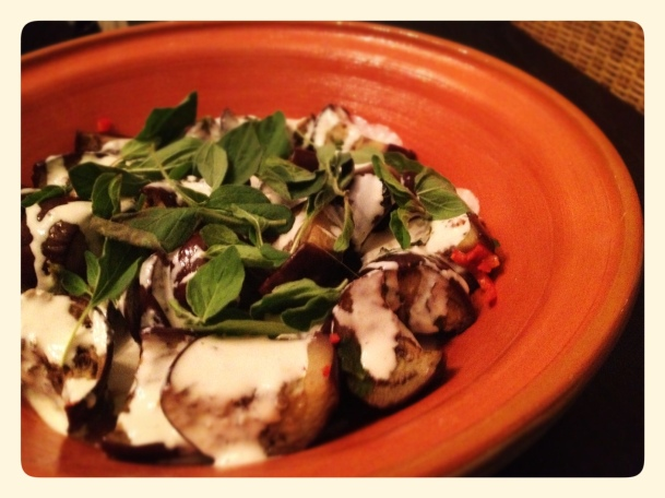 Ottolenghi Marinated Eggplant with Tahini Sauce