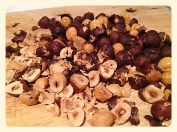 Unskinned natural hazelnuts