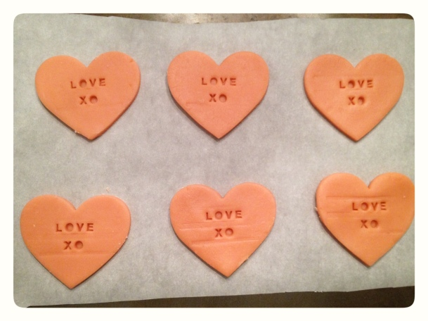 Valentine Love Heart Cookies with Letters