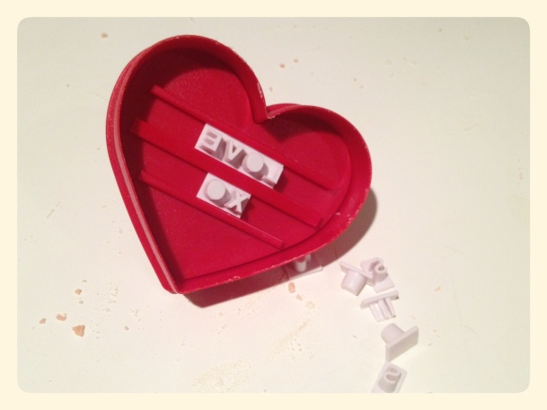 Williams and Sonoma Typesetting Heart Cookie Cutter