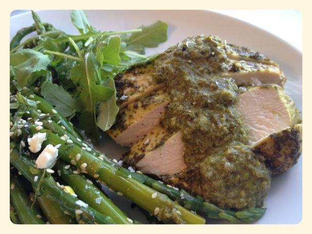 Ottolenghi Marinated Turkey Breast with Asparagus