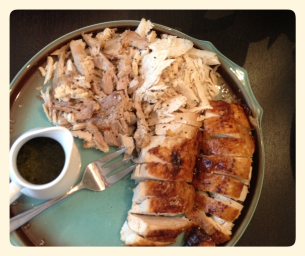 Buffet Roast Turkey with Mint Cilantro Cumin Sauce