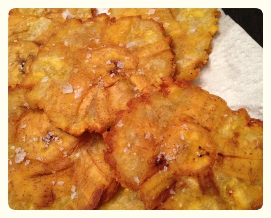 Fried Green Plantains with Salt