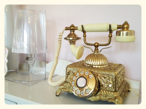 Antique Gold Telephone