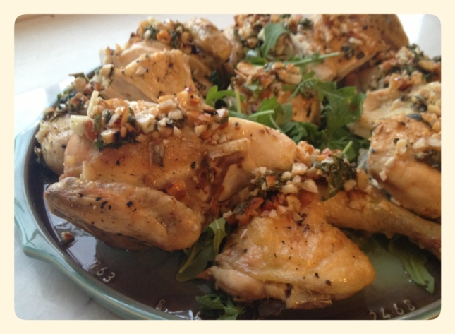 Chicken with Mint Lemon and Almonds