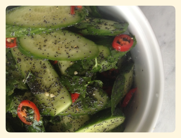 Ottolenghi Cucumber Salad with Chili and Poppyseeds