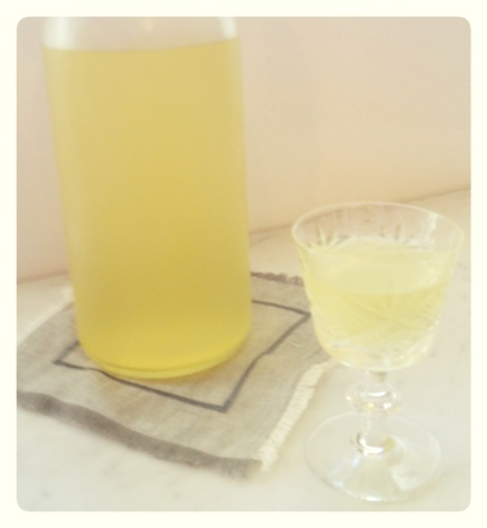 Homemade Meyer Lemon Lemocello