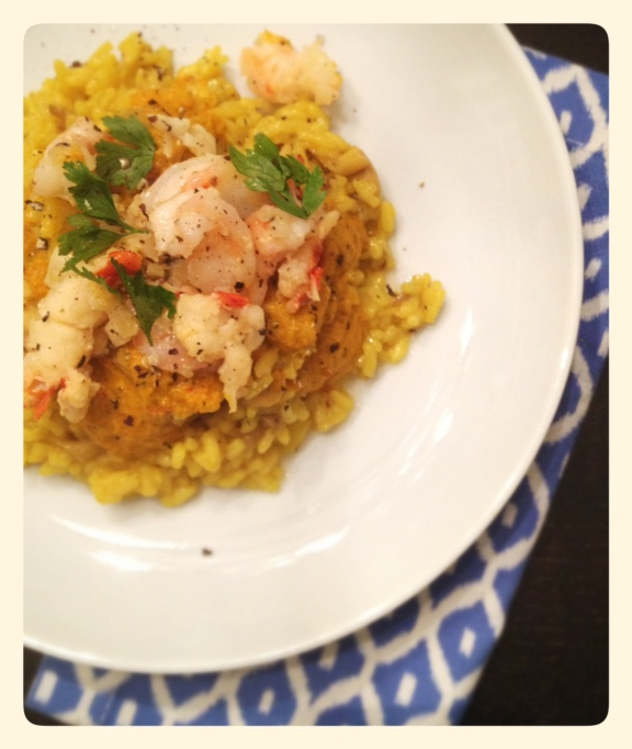 Spanish Rice with Lobster and Shrimp