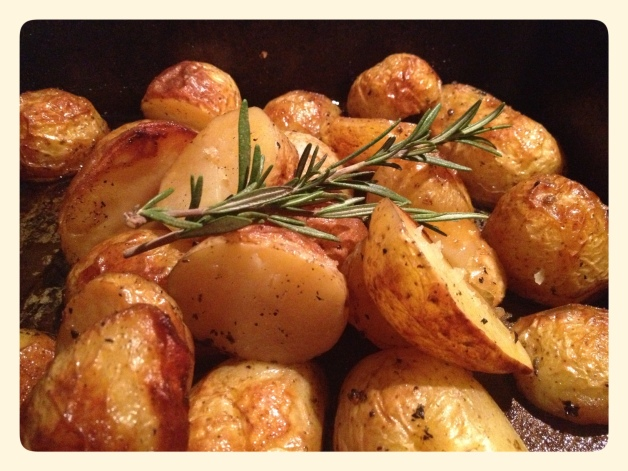 Duck Fat Roasted Potatoes with Rosemary