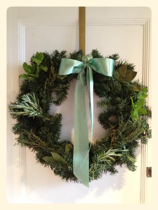 Holiday Fresh Herb Wreath