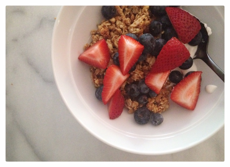 Fennel and Honey Granola with Fresh Berries
