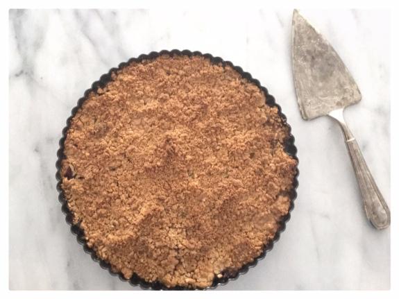 Plum and Almond Crisp